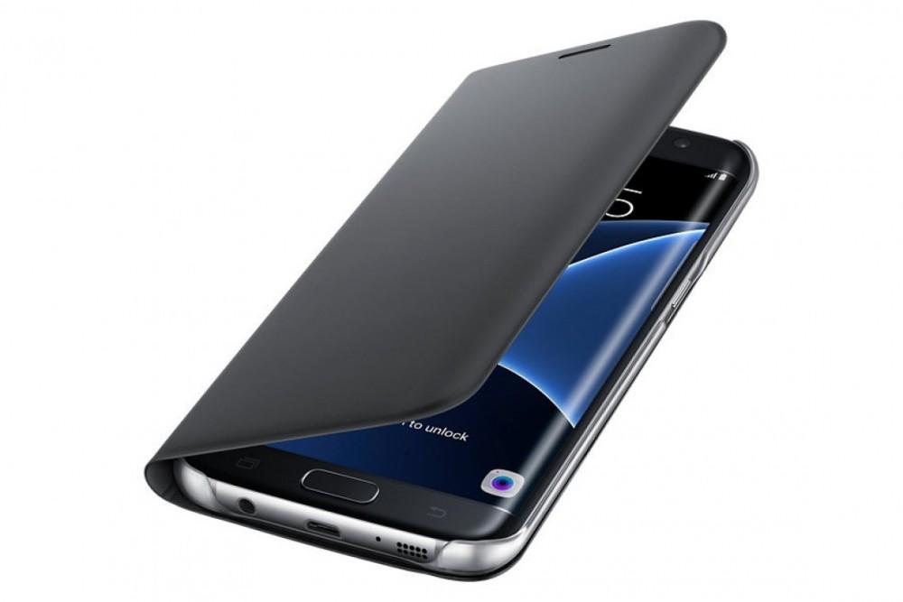 Samsung GALAXY S7 EDGE  FLIP WALLET BLACK
