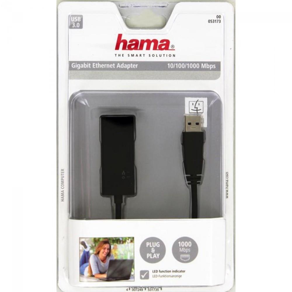 Hama Adapter USB 3.0 Gigabit Nätverksadapter