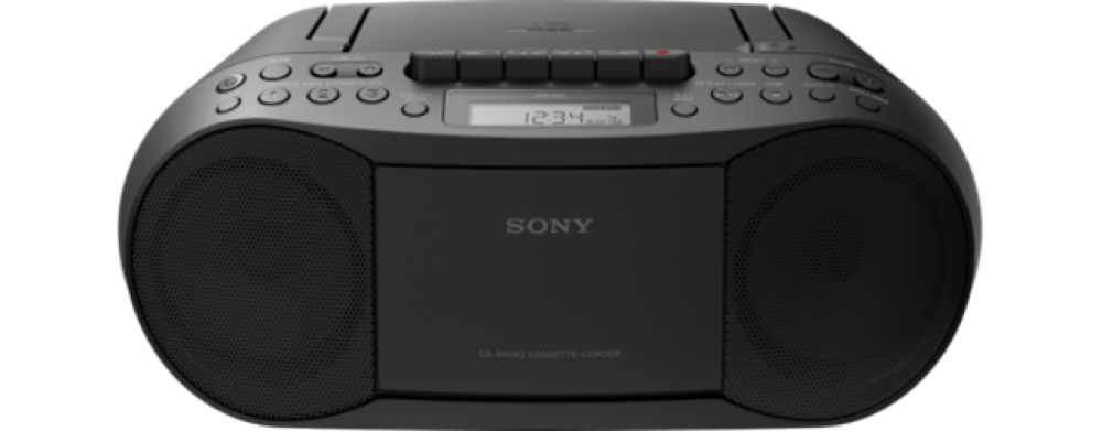 Sony CD CASSETTE BOOMBOX SVART