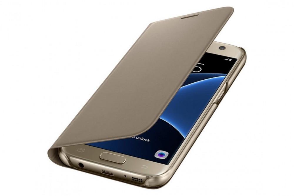 Samsung GALAXY S7  FLIP WALLET COVER GOLD