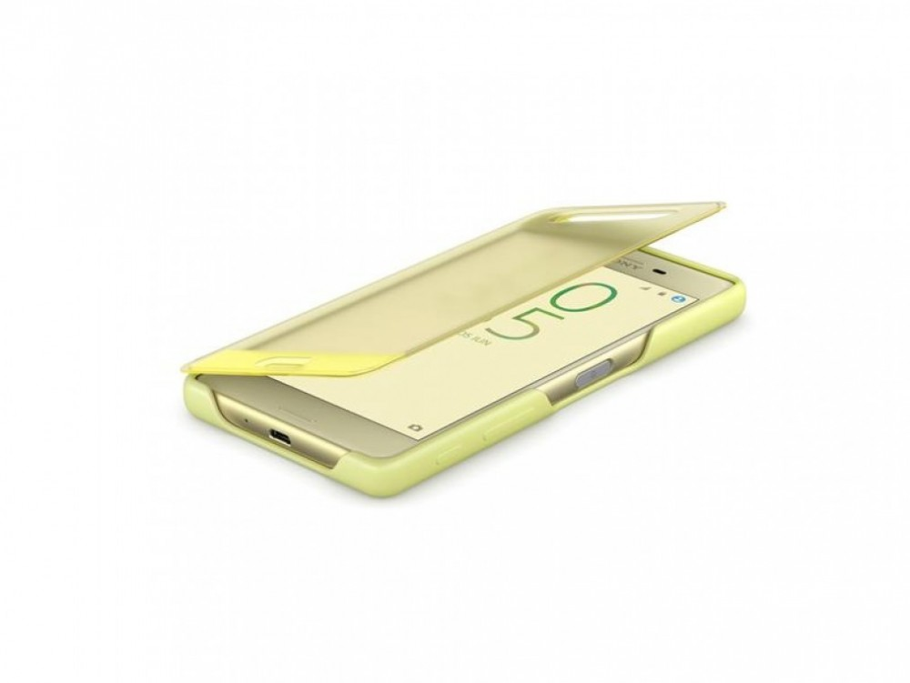 Sony STYLE COVER TOUCH SCR50 SONY XPERIA X Lime Gold