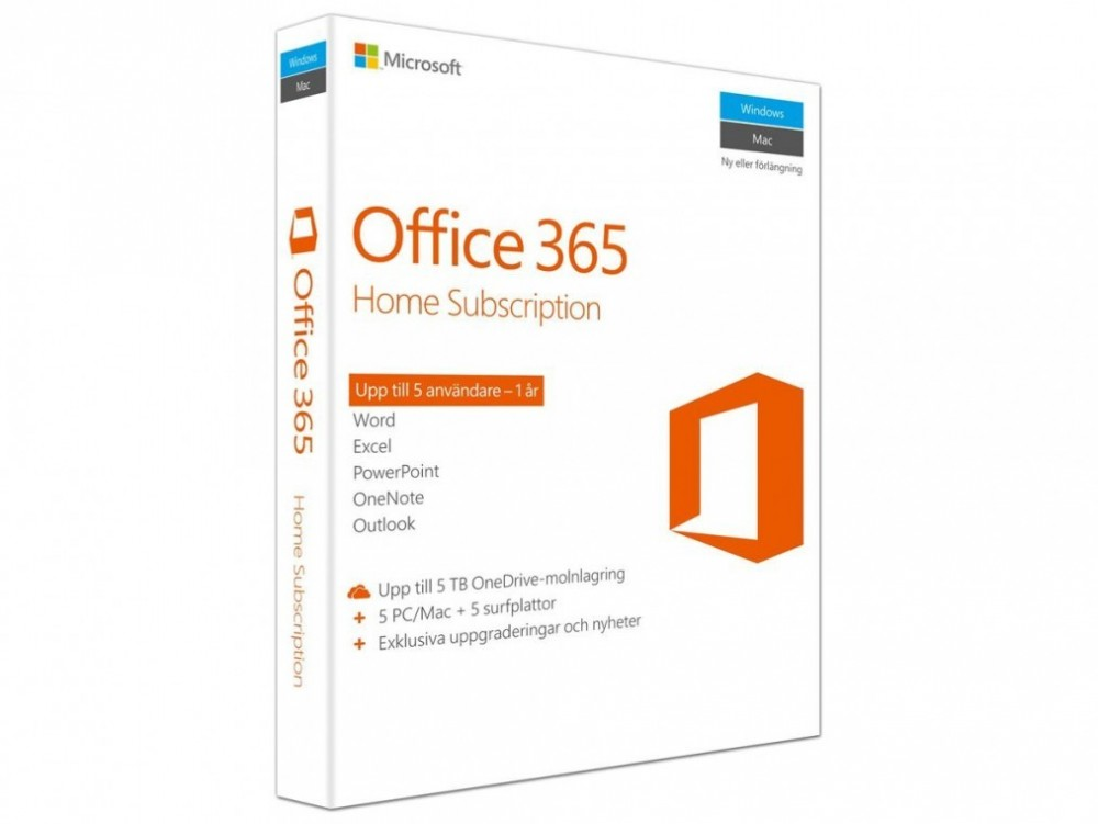 Microsoft OFFICE 365 HOME PREMIUM 32-BIT/X64 SWE