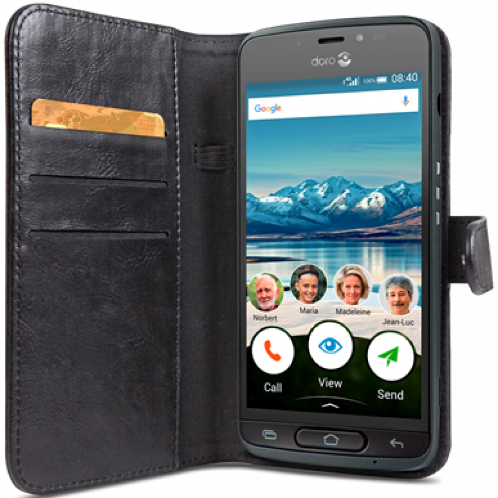Doro WALLET CASE 8040 BLACK BLISTER
