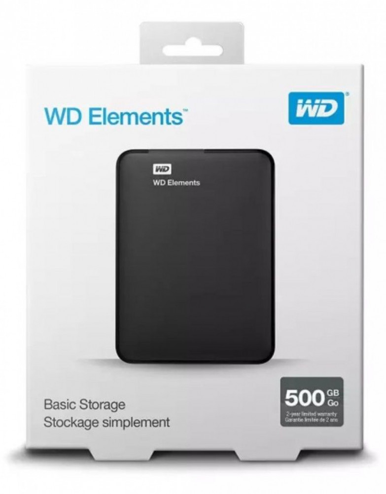 Western Digital PORTABEL HÅRDDISK 500GB