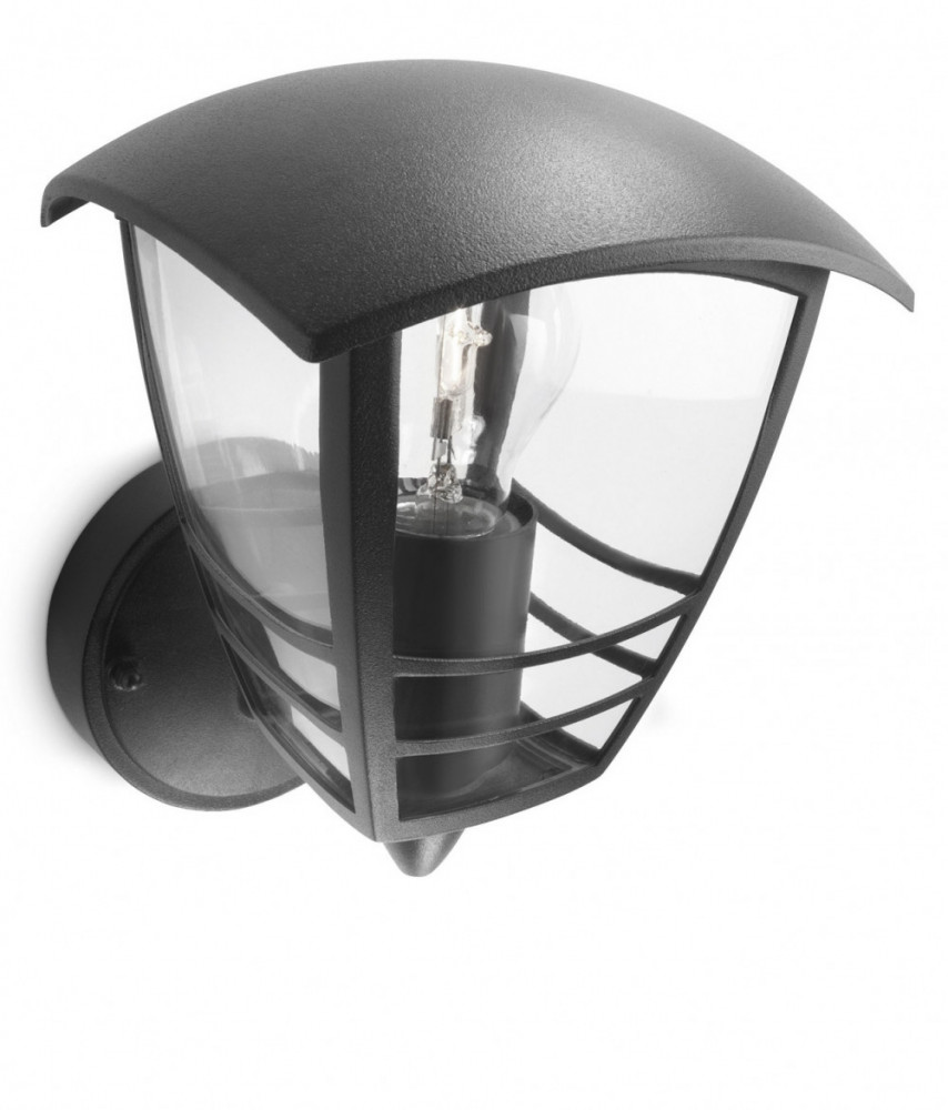 Philips CREEK WALL LANTERN BLACK 1X60W 230V