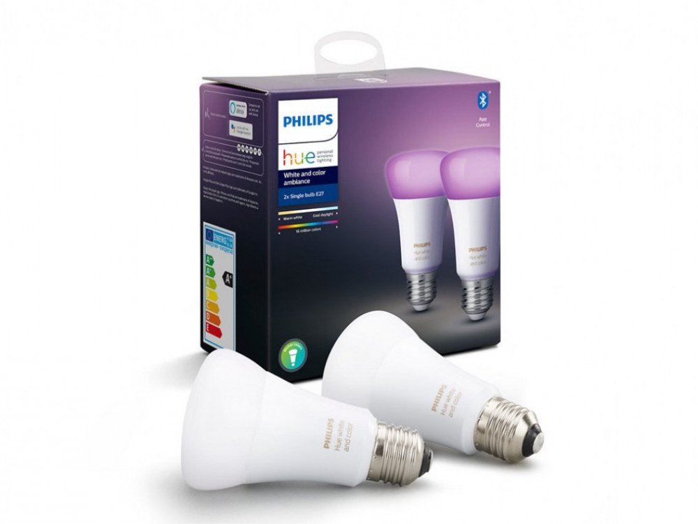 Philips HUE COLOR SMART LED-LAMPA A60 2-PACK