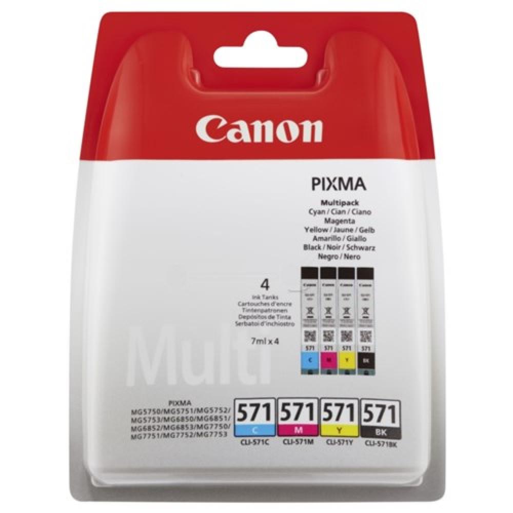 Canon INK CART/CLI-571 CY/MG/YL/BK BLISTER SEC
