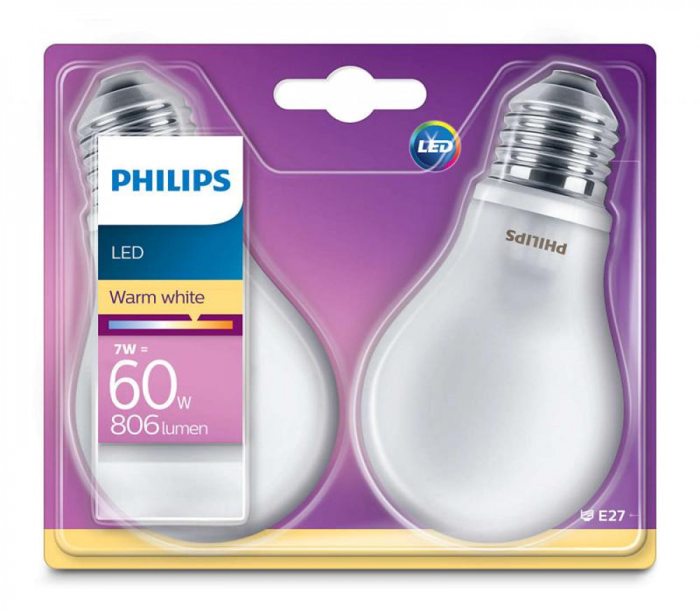 Philips LED 60W E27 VV A60 ND 2P