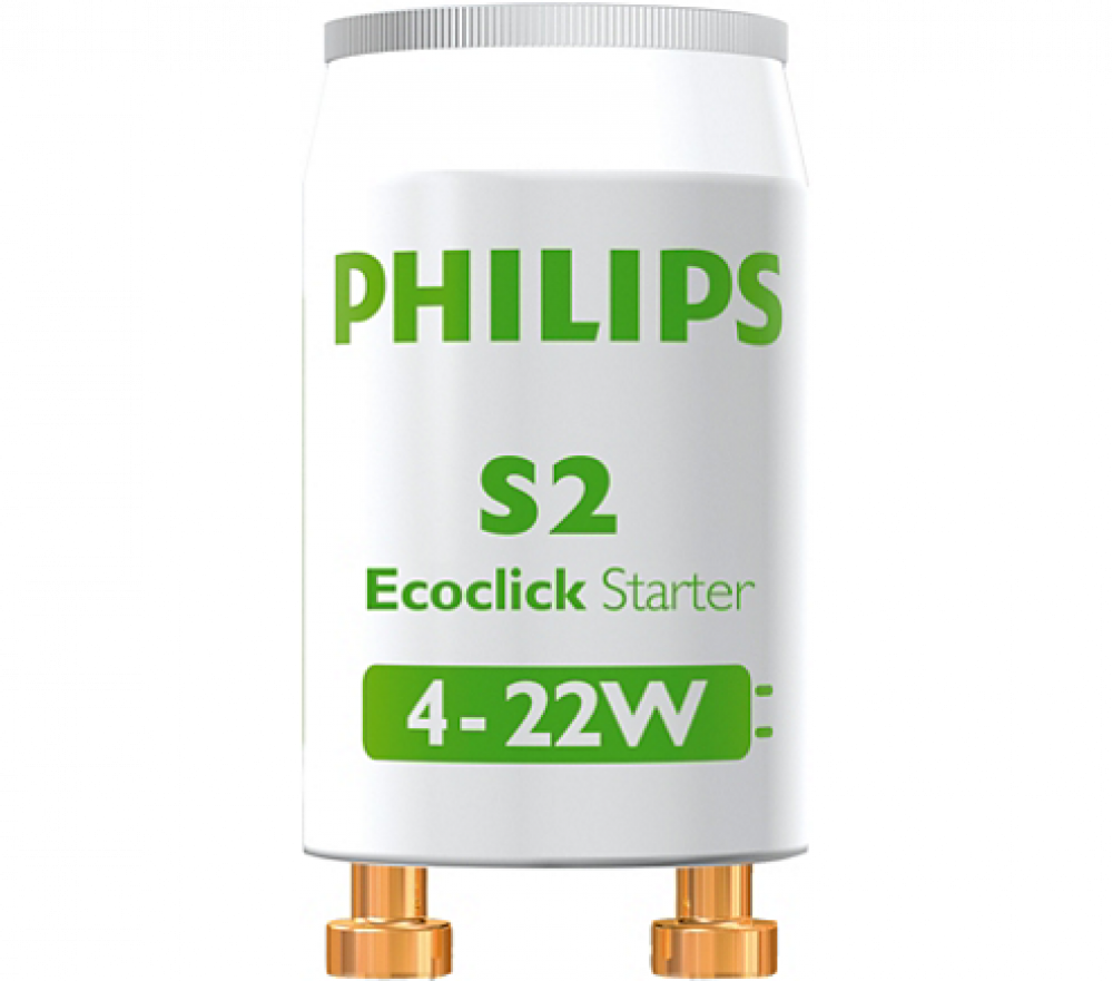 Philips GLIMTÄNDARE S2 4-22W SERIE 2P