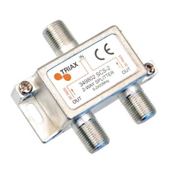 Triax SCS 2   2-fördelare   4,2/   6,7dB   5-2400 MHz