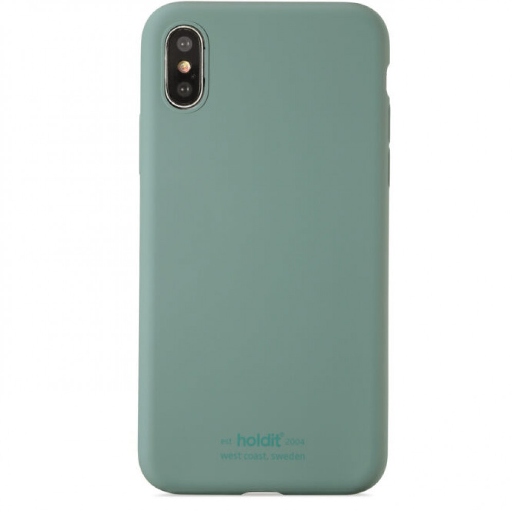 Holdit SILICONE CASE IPHONE X/XS MOSS GREEN