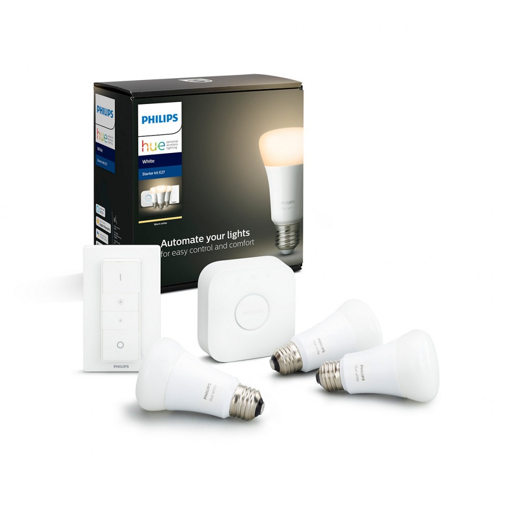 Philips HUE STARTKIT WHITE 9W E27 3-PACK BT