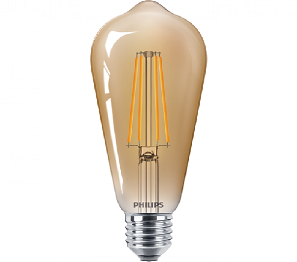 Philips LED EDISON ST64 48W E27 825 GOLD