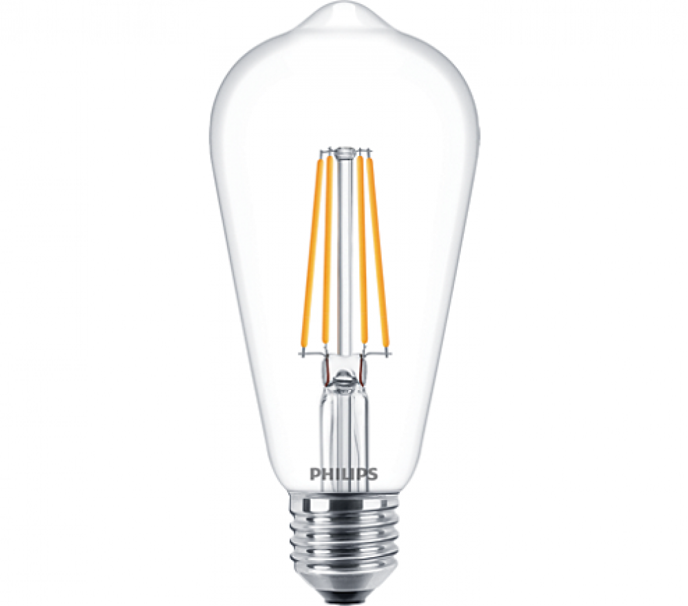 Philips LED EDISON ST64 60W E27 WW