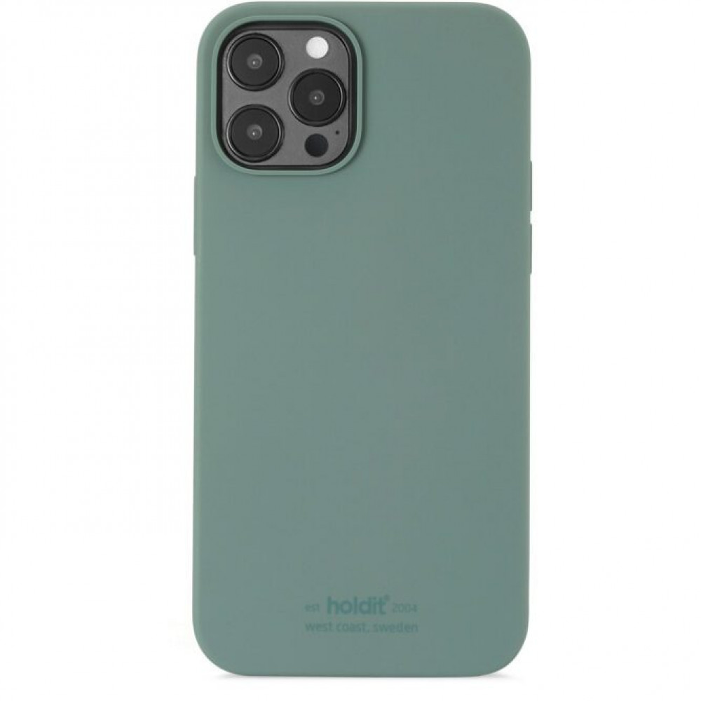 Holdit SILICONE CASE IPHONE 12 PRO MAX Grön