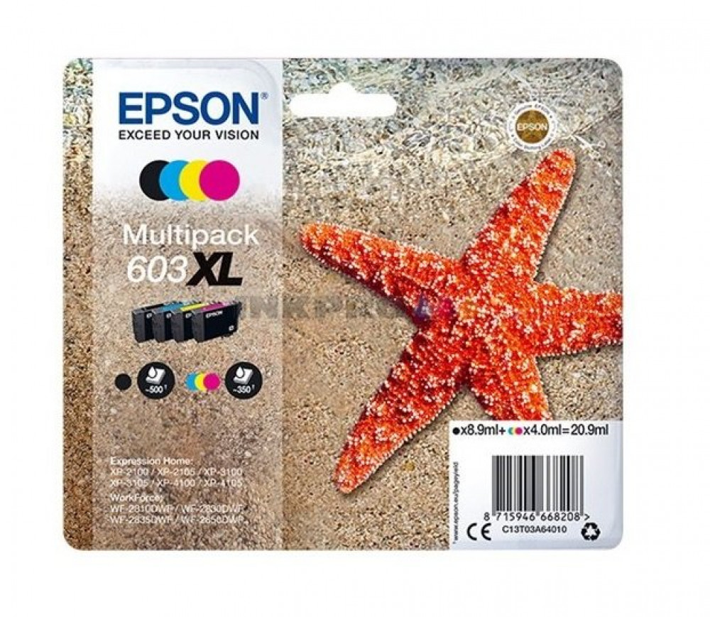 Epson MULTIPACK 4-COLOURS 603XL INK CARTRIDGE